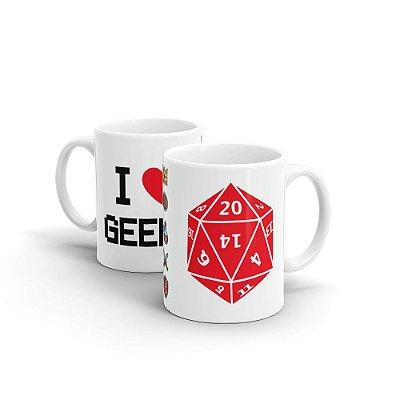 Caneca Personalizada Cerâmica I LOVE GEEKS - Beek