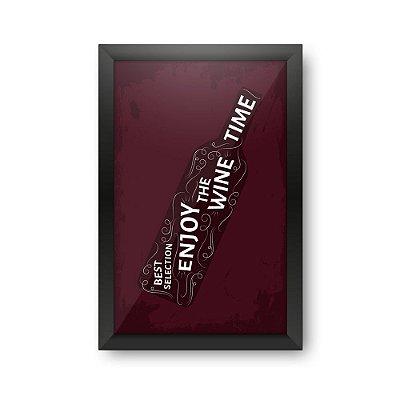 Quadro Porta Rolhas de Vinho WINE TIME