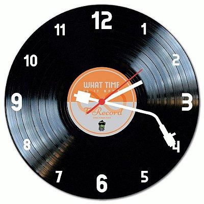 Relógio de Parede Beek DISCO DE VINIL LARANJA