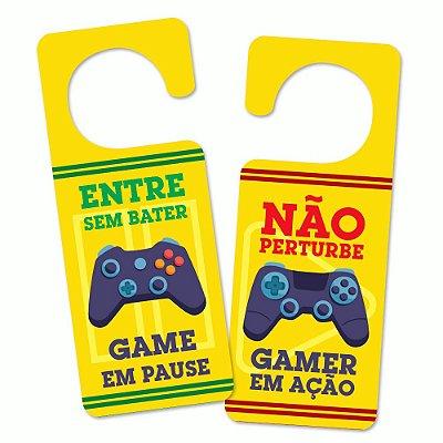 Aviso de porta Gamer em Ação - Beek