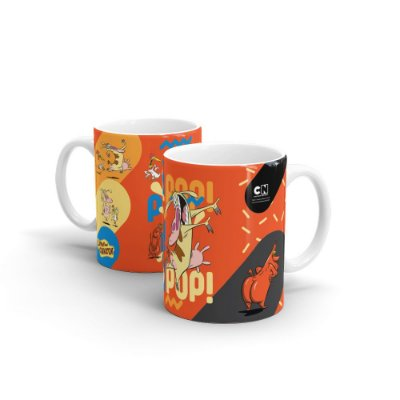 Caneca Cartoon Network POP Vaca e o Frango - POP POP