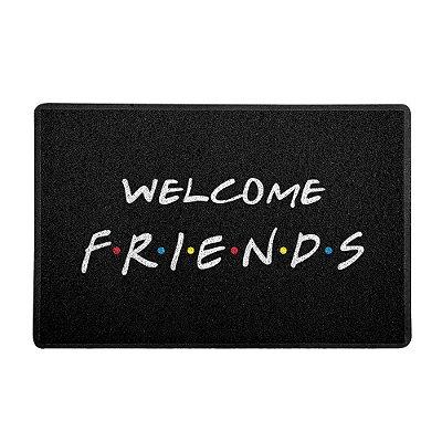 Capacho 60x40cm Welcome Friends PRETO - Beek