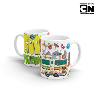 Caneca Cartoon Network TITIO AVÔ Good Morning - Beek