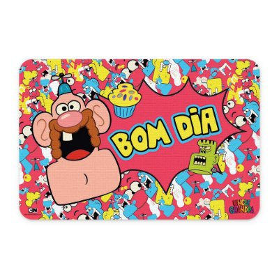 Tapete 60x40 Cartoon Network TITIO AVÔ Bom dia