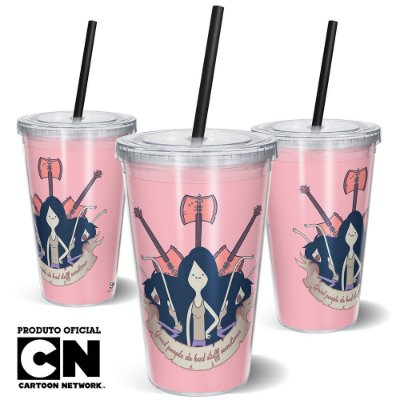 Copo Canudo 600ml Cartoon Network HORA DE AVENTURA Marceline - Beek