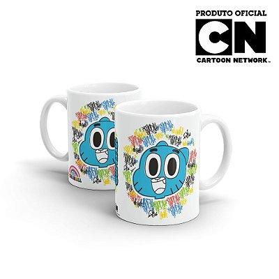 Caneca Cartoon Network O incrível Mundo de Gumball Grafite - Beek