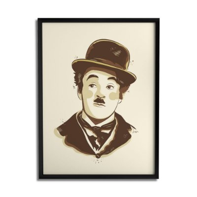 Quadro Decorativo Chaplin By Lua Lins - Beek