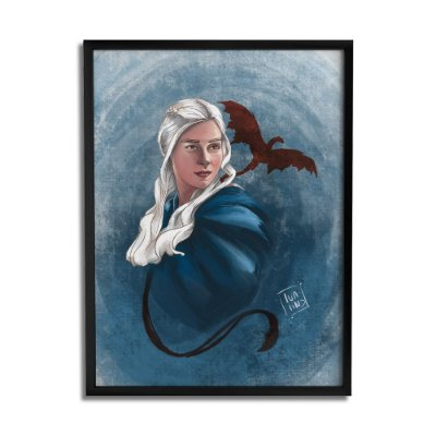 Quadro Decorativo Daenerys By Lua Lins - Beek