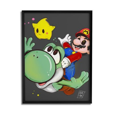 Quadro Decorativo Mario By Lua Lins - Beek