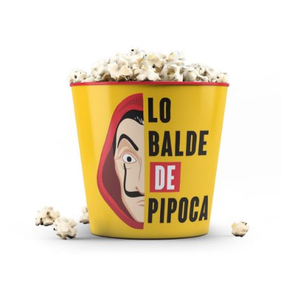 Balde de Pipoca 3,5 litros - LO BALDE 2 - Vermelho - Beek