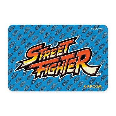 Tapete 60x40 Street Fighter - LOGO Azul