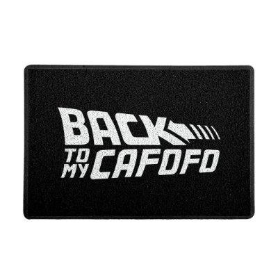Capacho 60x40cm Back to my Cafofo BRANCO - Beek