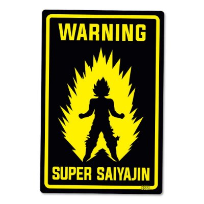 Placa Decorativa 24x16 Super Saiyajin - Beek