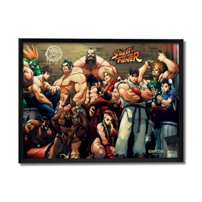 Quadro Decorativo Street Fighter Os melhores - Beek