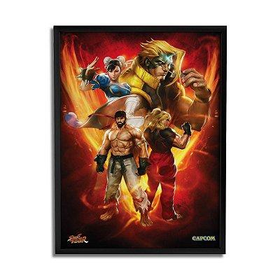 Quadro Decorativo Street Fighter Personagens - Beek