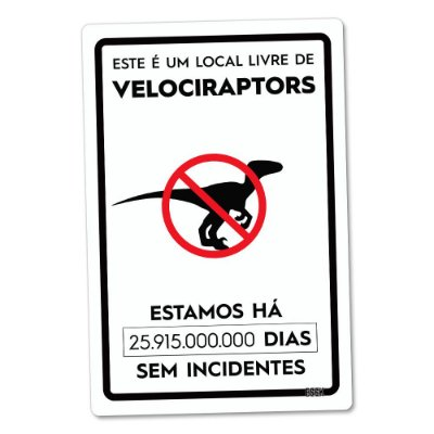Placa Decorativa 24x16 Livre de Dinossauros - Beek