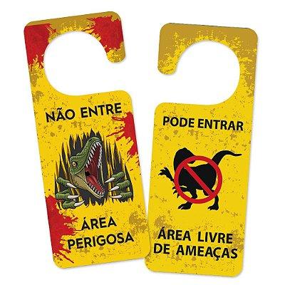 Aviso de porta Ameaça Dino - Beek