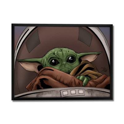 Quadro Decorativo Baby Yoda By Baal's - Beek