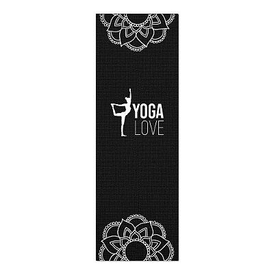 Tapete De Yoga / Ioga Com 1,80x0,60m Preto - NATARAJASANA