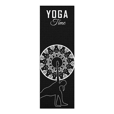 Tapete De Yoga / Ioga Com 1,80x0,60m Preto - LATERAL