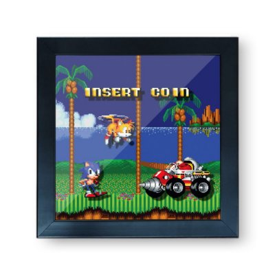 Quadro Cofre 3D Sonic e Tails - Beek