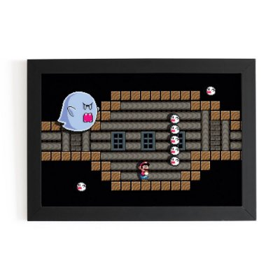 Quadro 3D Super Mario Big Boo - Beek