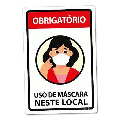 Placa Decorativa 24x16 Use Máscara Garota - Beek