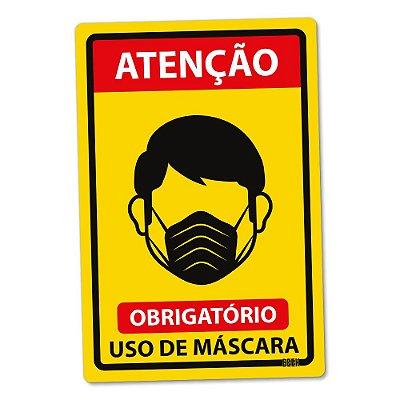 Placa Decorativa 24x16 Use Máscara Padrão - Beek