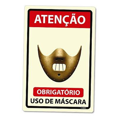 Placa Decorativa 24x16 Use Máscara Killer - Beek