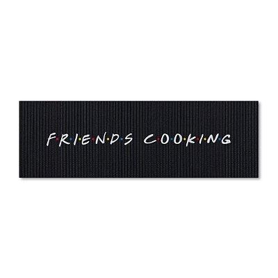 Tapete de Cozinha 1,25x0,40cm - Friends Cooking