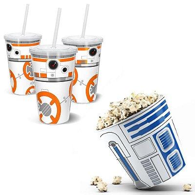 Kit Cinema - Balde De Pipoca 3,5l + Copo 500ml - SW-Androids1