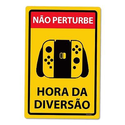 Placa Decorativa 24x16 - HORA DA DIVERSÃO NX