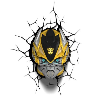 Luminária 3D Light FX Transformers Bumble Bee