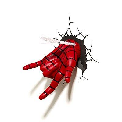 Luminária 3D Light FX Marvel Mão Homem Aranha