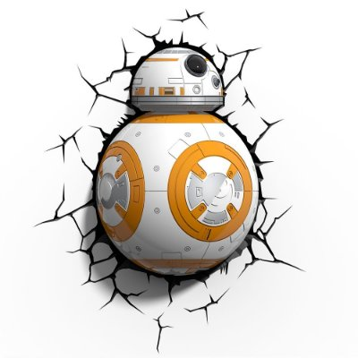 Luminária 3D Light FX Star Wars BB-8 - MOSTRUARIO