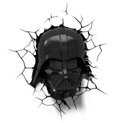 Luminária 3D Light FX Star Wars Darth Vader Helmet - MOSTRUARIO