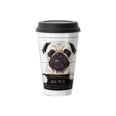Copo Café 500ml - BAD PUG