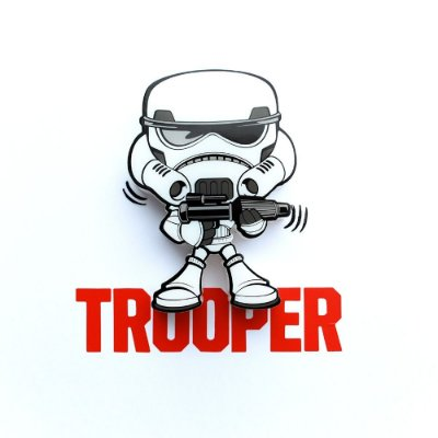 Mini Luminária 3D Light FX Star Wars Storm Trooper