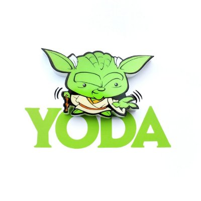 Mini Luminária 3D Light FX Star Wars Yoda