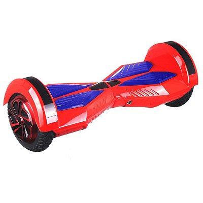 Hoverboard Skate Elétrico com Bluetooth 8 polegadas - VERMELHO COM AZUL