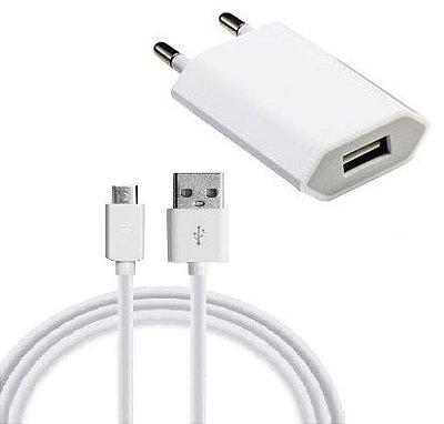 Carregador de tomada USB e cabo de dados para android
