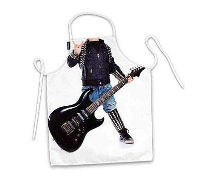 Avental infantil corpo rock star