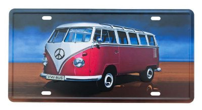 Placa de metal kombi