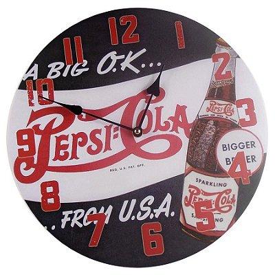 Relógio Parede 34cm Pepsi Cola