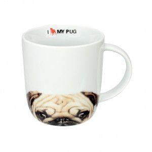 Caneca i love my pug