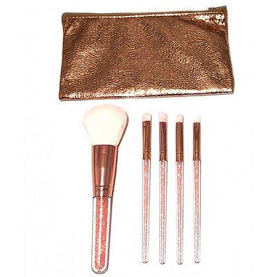 Kit de pincel para maquiagem gliter