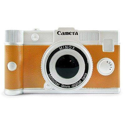 Cofre câmera retrô caramelo