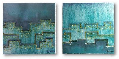 Quadro Cidade Azul