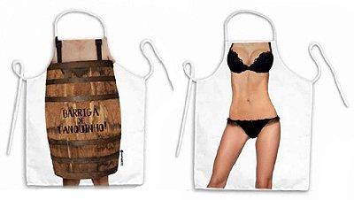Avental corpo tanquinho e lingerie preta
