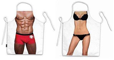 Avental corpo salva vidas e lingerie preta